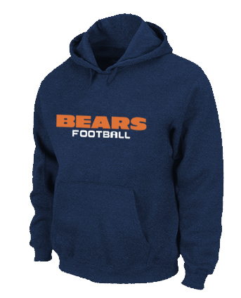 Chicago Bears Authentic font Pullover Hoodie D.Blue