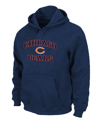Chicago Bears Heart & Soul Pullover Hoodie D.Blue