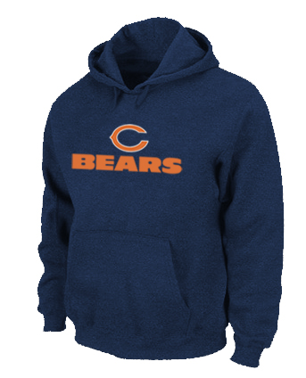 Chicago Bears Sideline Legend Authentic logo Pullover Hoodie D.Blue