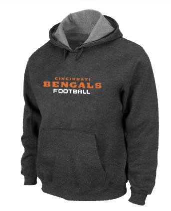 Cincinnati Bengals Authentic font Pullover Hoodie D.Grey