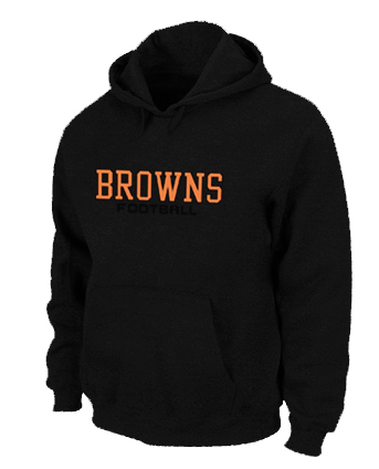 Cleveland Browns Authentic font Pullover Hoodie Black