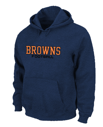 Cleveland Browns Authentic font Pullover Hoodie D.Blue