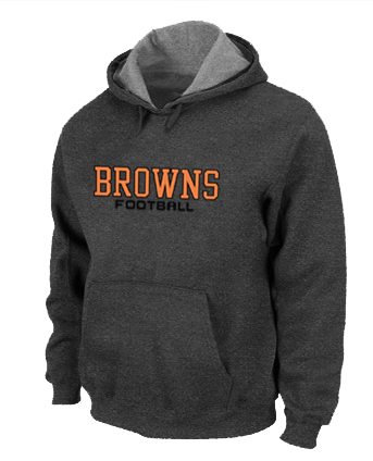 Cleveland Browns Authentic font Pullover Hoodie D.Grey