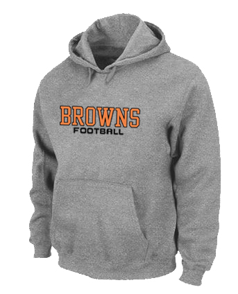 Cleveland Browns Authentic font Pullover Hoodie Grey