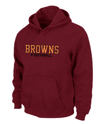 Cleveland Browns Authentic font Pullover Hoodie Red