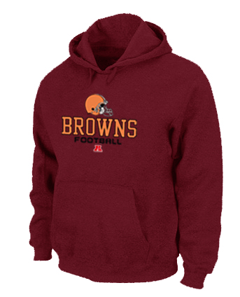 Cleveland Browns Critical Victory Pullover Hoodie RED