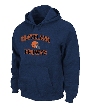 Cleveland Browns Heart & Soul Pullover Hoodie D.Blue