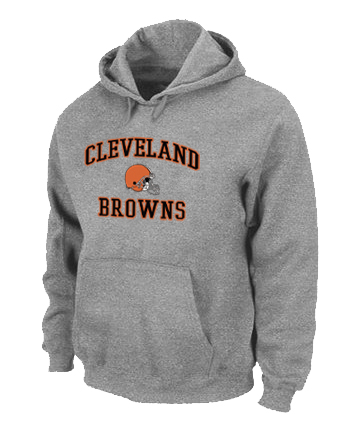 Cleveland Browns Heart & Soul Pullover Hoodie Grey