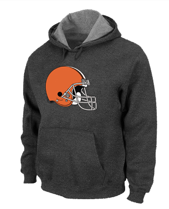 Cleveland Browns Logo Pullover Hoodie D.Grey