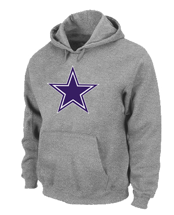 Dallas Cowboys Logo Pullover Hoodie Grey