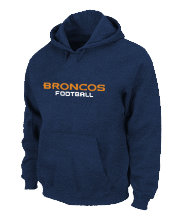 Denver Broncos Authentic font Pullover Hoodie D.Blue