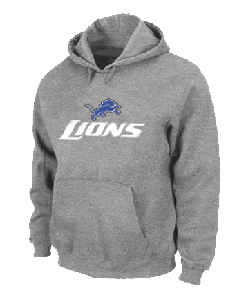 Detroit Lions Authentic Logo Pullover Hoodie Grey