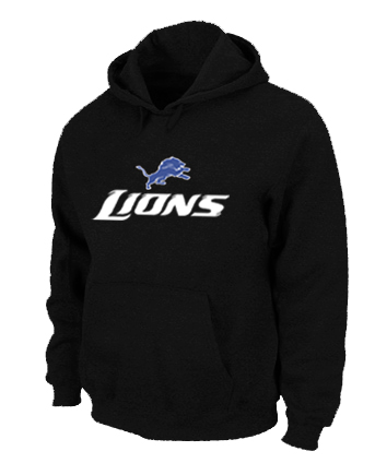 Detroit Lions Authentic Logo Pullover Hoodie Black