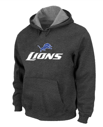 Detroit Lions Authentic Logo Pullover Hoodie D.Grey