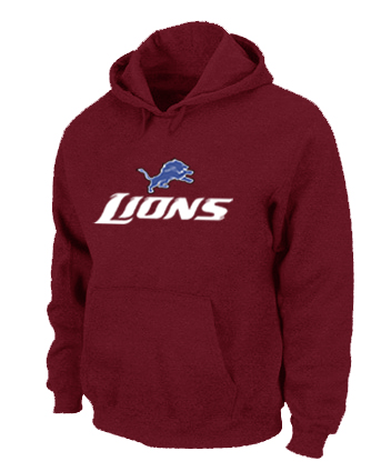 Detroit Lions Authentic Logo Pullover Hoodie RED