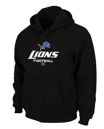 Detroit Lions Critical Victory Pullover Hoodie Black