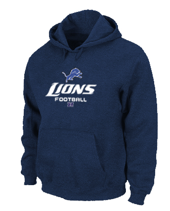 Detroit Lions Critical Victory Pullover Hoodie D.Blue
