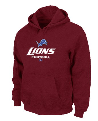 Detroit Lions Critical Victory Pullover Hoodie RED