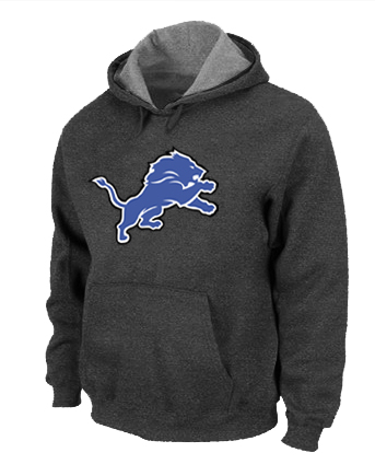 Detroit Lions Logo Pullover Hoodie D.Grey