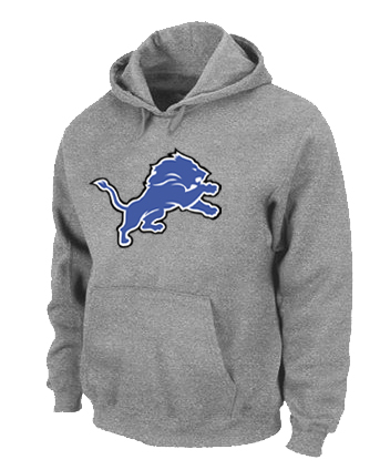 Detroit Lions Logo Pullover Hoodie Grey