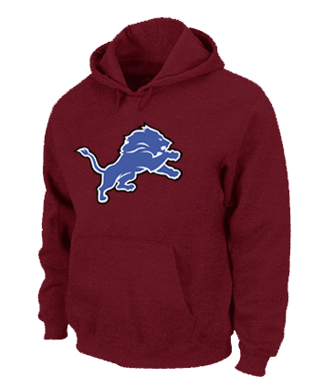 Detroit Lions Logo Pullover Hoodie RED