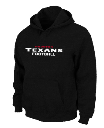 Houston Texans Authentic font Pullover Hoodie Black