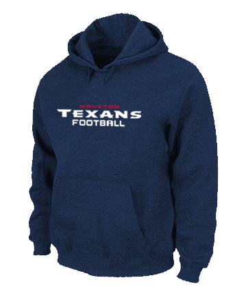 Houston Texans Authentic font Pullover Hoodie D.Blue