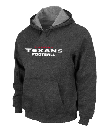 Houston Texans Authentic font Pullover Hoodie D.Grey