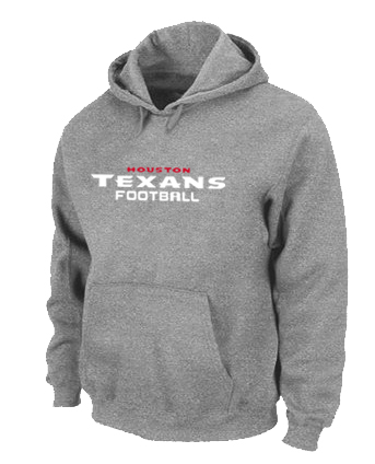 Houston Texans Authentic font Pullover Hoodie Grey