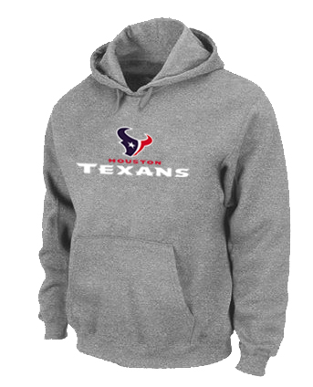 Houston Texans Authentic Logo Pullover Hoodie Grey