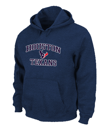 Houston Texans Heart & Soul Pullover Hoodie D.Blue