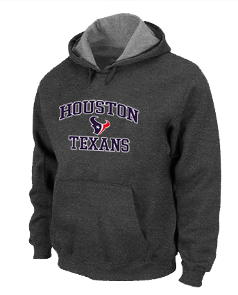 Houston Texans Heart & Soul Pullover Hoodie D.Grey