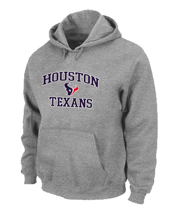 Houston Texans Heart & Soul Pullover Hoodie Grey