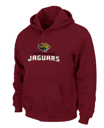 Jacksonville Jaguars Authentic Logo Pullover Hoodie RED