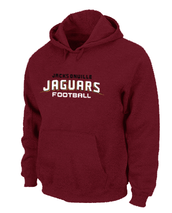 Jacksonville Jaguars Authentic font Pullover Hoodie Red