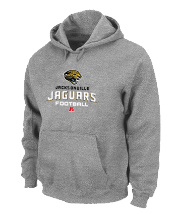 Jacksonville Jaguars Critical Victory Pullover Hoodie Grey