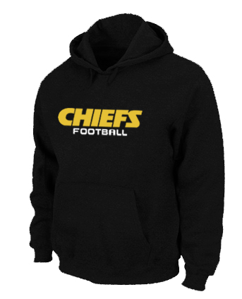 Kansas City Chiefs Authentic font Pullover Hoodie Black