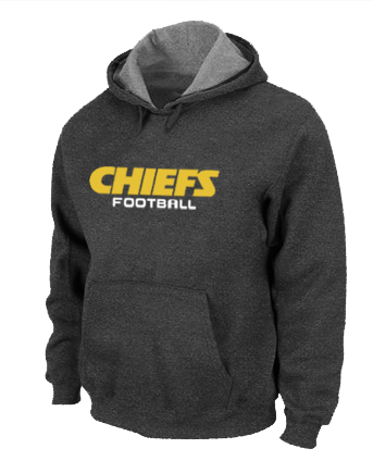 Kansas City Chiefs Authentic font Pullover Hoodie D.Grey