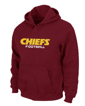 Kansas City Chiefs Authentic font Pullover Hoodie Red