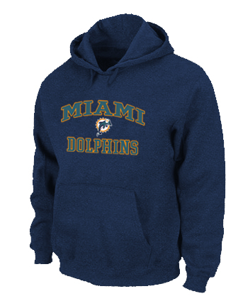 Miami Dolphins Heart & Soul Pullover Hoodie D.Blue