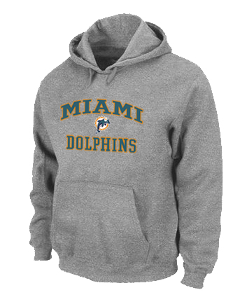 Miami Dolphins Heart & Soul Pullover Hoodie Grey