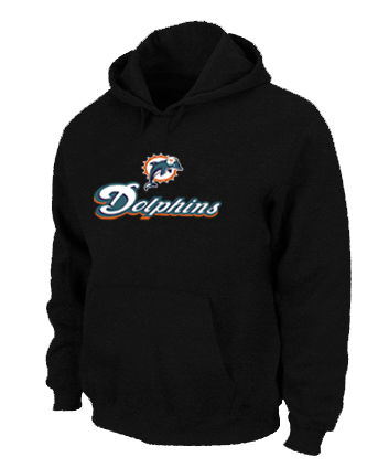 Miami Dolphins Authentic Logo Pullover Hoodie Black