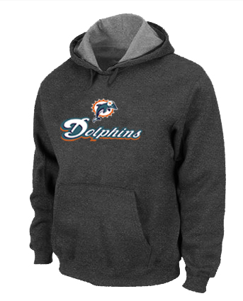 Miami Dolphins Authentic Logo Pullover Hoodie D.Grey