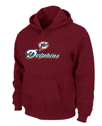 Miami Dolphins Authentic Logo Pullover Hoodie RED