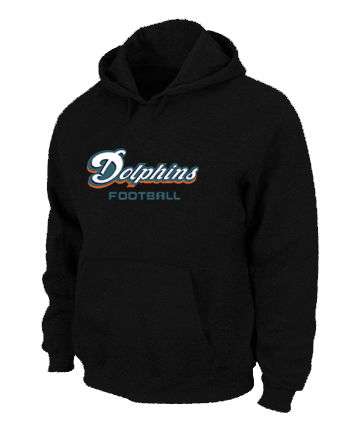 Miami Dolphins Authentic font Pullover Hoodie Black