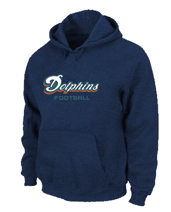 Miami Dolphins Authentic font Pullover Hoodie D.Blue