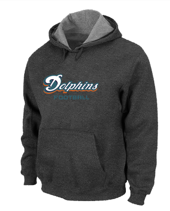 Miami Dolphins Authentic font Pullover Hoodie D.Grey