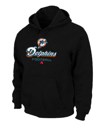 Miami Dolphins Critical Victory Pullover Hoodie Black