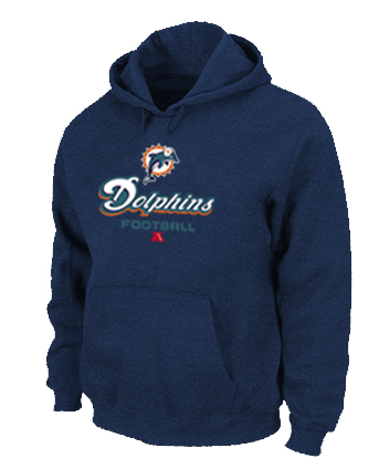 Miami Dolphins Critical Victory Pullover Hoodie D.Blue