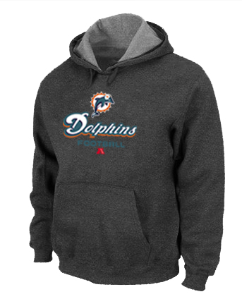 Miami Dolphins Critical Victory Pullover Hoodie D.Grey